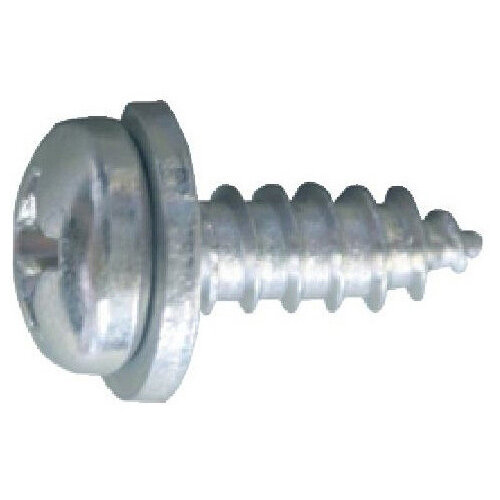 Wurth Number Plate Screw - SCR-PANHD-NRPLT-WSH-(A2K)-OPEL-5,5X16 Ref. 010305516 PACK OF 100