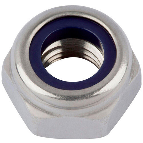 Wurth Hexagon Nut, Low Profile, With Clamping Piece (non-metal Insert) - Nut-HEX-SLOK-DIN985-A2-WS7-M4 Ref. 03914 PACK OF 1000