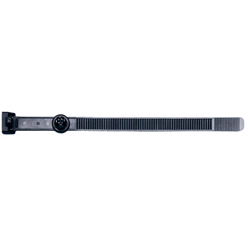 Wurth Cable Tie Type 1 - MP-MB-CBLTIE-PLA-BLACK-W.RIVET-9X160 Ref. 050012463 PACK OF 50