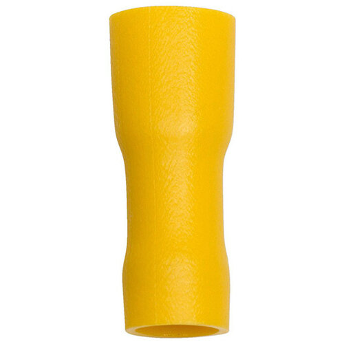 Wurth Crimp Cable Lug, push Connector, Fully insulated - PSHCON-ALLINSULATED-Yellow-6,3X0,8MM Ref. 055890544 PACK OF 100