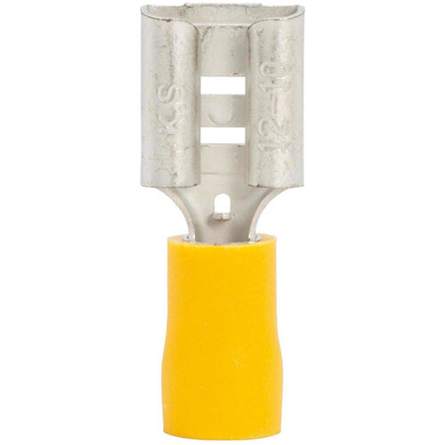 Wurth Crimp Cable Lug, push Connector - PSHCON-Yellow-9,5MM Ref. 05589414 PACK OF 50