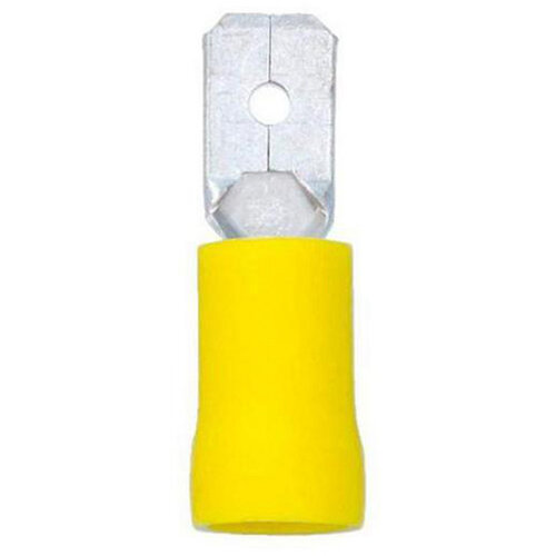 Wurth Crimp Cable Lug, Blade Connector - TABCON-Yellow-6,3X0,8MM Ref. 05589454 PACK OF 50