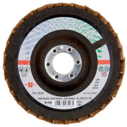 Wurth Fleece Segmented Grinding Disc - SNDDISC-NYLFLC-Coarse-115X22,23 Ref. 0585311510 PACK OF 10