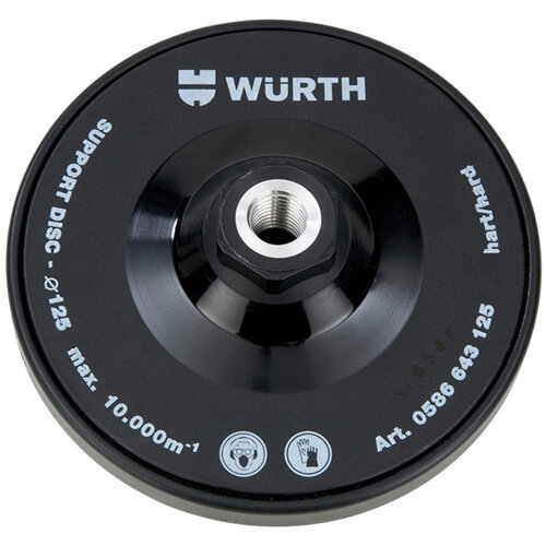 Wurth Support Plate for Velcro Disc - ADHDISC-SNDDISC-M14-HARD-D125 Ref. 0586643125
