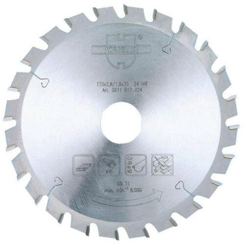 Wurth UNI-Top Circular Saw Blade - BLDE-CRCLSAW-WO-TC-VT-250X42X30 Ref. 0611625042