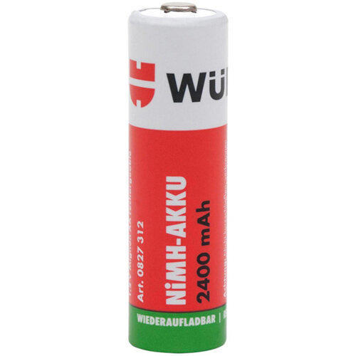 Wurth Pre-charged NiMH Battery - BTRY-NIMH-MIGNON-AA-PRECHAR-1,2V-2400MAH Ref. 0827312 PACK OF 4