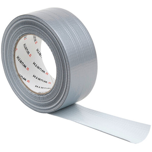 Wurth Fabric Adhesive Tape - ADHTPE-TEXTILREINFD-SILVER-50MMX50M Ref. 0874100200