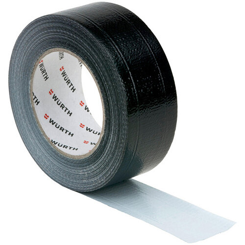 Wurth Fabric Adhesive Tape - ADHTPE-TEXTILREINFD-BLACK-50MMX50M Ref. 0874100202 PACK OF 12