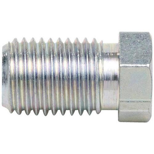 Wurth Brake Pipe Nipple, Type S - BRKPIPNPL-E-PIPD4,75-WS10-(3/8IN-24UNF) Ref. 0889504 PACK OF 25