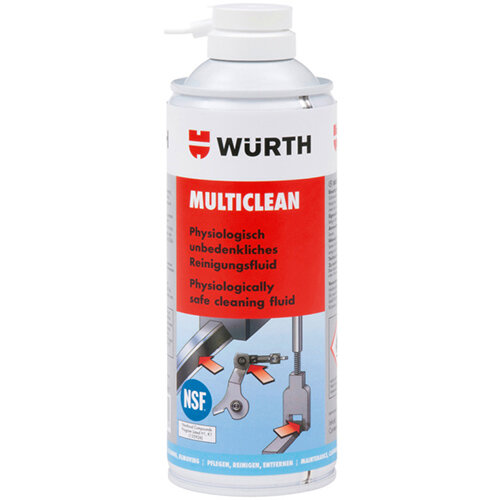 Wurth Cleaning Liquid Multiclean - ASMBYCLNR-(MULTICLEAN)-H1-400ML Ref. 08901096