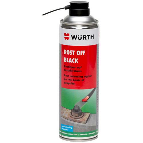 Wurth Rust Remover Rost Off Black - PENTOIL-(ROST-OFF-BLACK)-500ML Ref. 0890200500 PACK OF 12