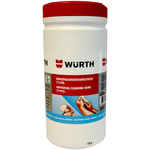 Wurth Industrial Strength Cleaning Wipes - CLNCLTH-MOIST-INDUST-ORANGE-72PCS Ref. 089090072 PACK OF 6