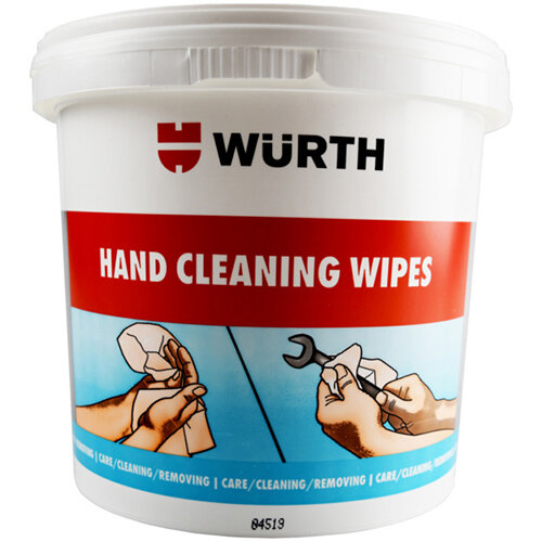 Wurth Industrial Strength Cleaning Wipes - CLNCLTH-MOIST-Hand-125PCS Ref. 0890900980