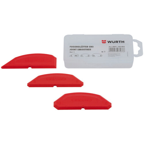 Wurth Joint Smoother Uni - JNTSMTHR-UNI-KIT1-RED-3PCS Ref. 0891184003 PACK OF 12