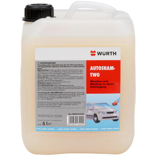 Wurth Vehicle Cleaner AutoshamTWO - CLNR-VEH-CARSHAMTWO-5LTR Ref. 089301005
