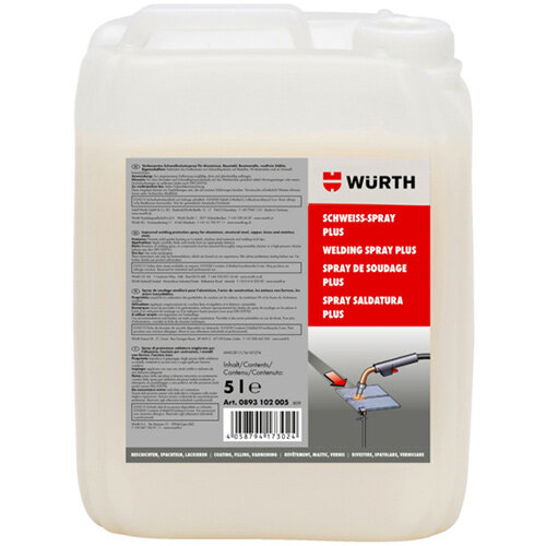 Wurth Welding Spray Plus - WELDSPR-PLUS-Canister-5LTR Ref. 0893102005