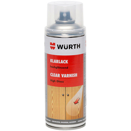 Wurth Clear Varnish - CLRPNTSPR-HIGHGLOSS-400ML Ref. 08931881