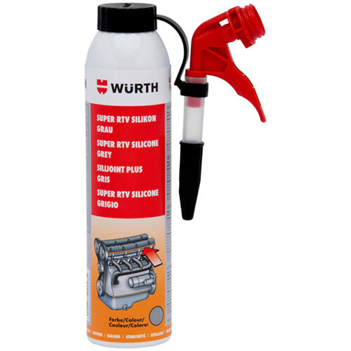 Wurth Super RTV Silicone Adhesive and Sealing Compound - SILSEAL-HTEMP-(SUPER-RTV)-GREY-200ML Ref. 08933316 PACK OF 12