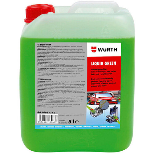 Wurth Multi-purpose Cleaner Liquid Green - UNICLNR-(Liquid GREEN)-5LTR Ref. 08934745