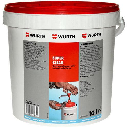 Wurth Hand Cleaner, Standard - Super CLEAN 10 LTR Ref. 089390010
