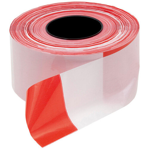 Wurth Warning Tape - WARNTPE-RED/WHITE-W80MMXL500M Ref. 0899615002 PACK OF 2
