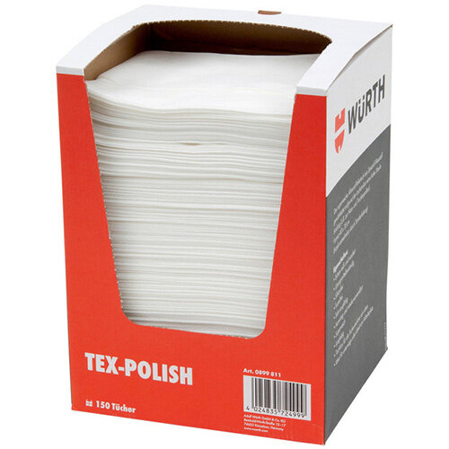 Wurth Cleaning Cloth Tex-Polish - POLCLTH-(TEX-POLISH)-37X38CM-150PCS Ref. 0899811