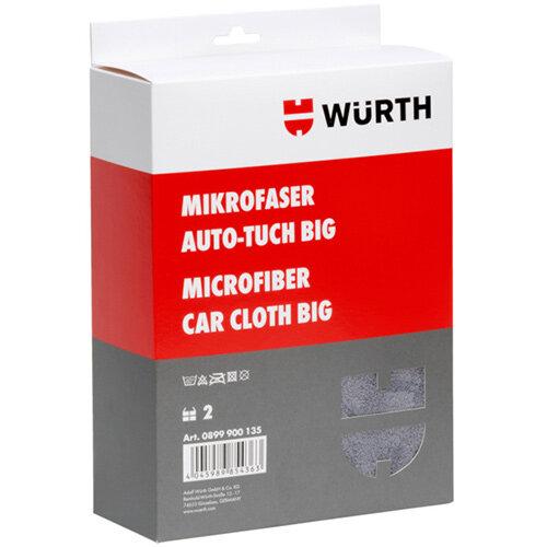 Wurth Big microfibre Car Cloth - MICROCLTH-GREY-BIG-700X500MM Ref. 0899900135 PACK OF 2