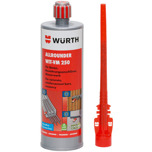 Wurth Allrounder Chemical Injection Mortar WIT-VM 250 - ANC-MORT-(WIT-VM250)-420ML Ref. 0903450205