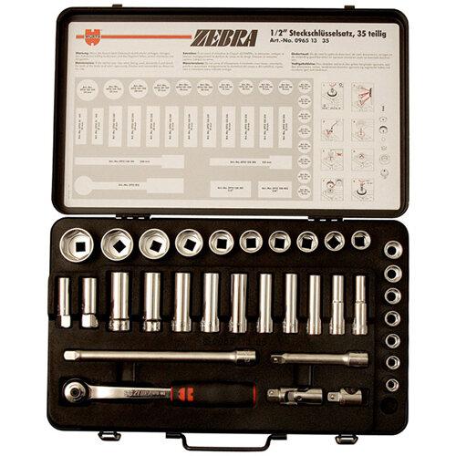 Wurth 1/2-inch Socket Wrench Assortment - SKTWRNCH-SET-1/2IN-WS34-35PCS Ref. 096513 35