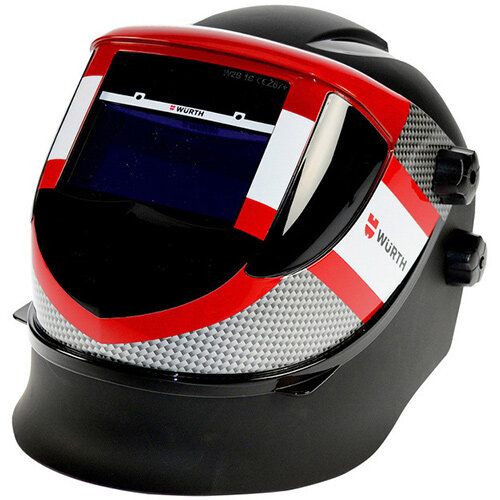 Wurth S9 Welding Helmet - WELDHELM-S9-GREY/BLACK-(DIN5/9/13)-EN175 Ref. 0984743100