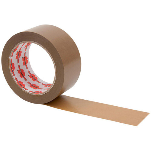 Wurth PVC Packing Tape - PCKTPE-PVC-BROWN-50MMX66M Ref. 0985050001 PACK OF 6