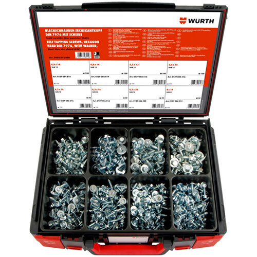 Wurth Combi Tapping Screw Assortment - SCR-(COMBI/PL)-SYSKO-W.WSH-(A2K)-600PCS Ref. 5964012900