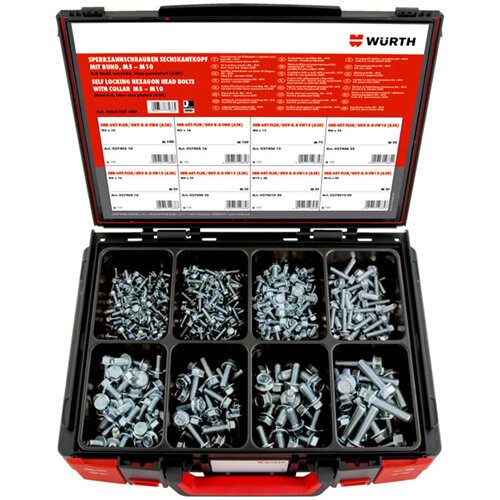 Wurth Hexagon Head Serrated Screws With Flange Assortment - SERSCR-SYSKO-HEX-FLG-8.8-(A2K)-445PCS Ref. 5964027400