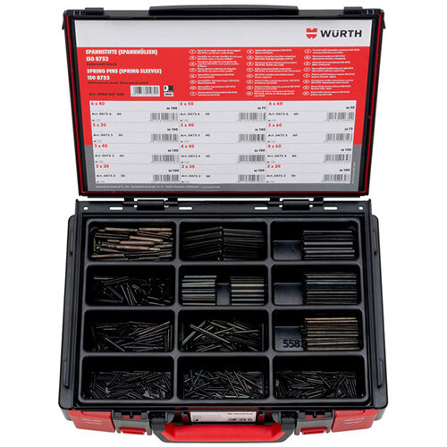Wurth Clamping Pins (sleeves) Assortment - SPGPIN-SYSKO-ISO8752-(D2-6)-1100PCS Ref. 5964047500