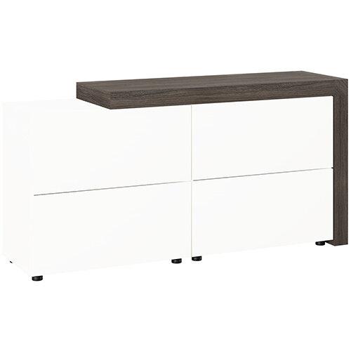 Auttica Cupboard Dublin Oak &White W1680xD450xH840mm