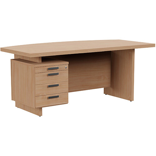 Grand Executive Office Desk With Left Side Drawers 1800mm Beech