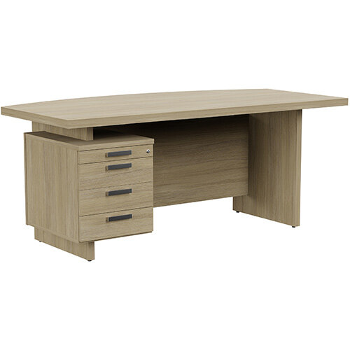 Grand Executive Office Desk With Left Side Drawers 1800mm Urban Oak