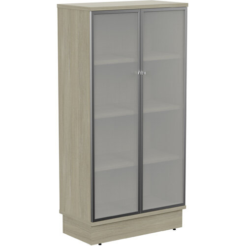 Grand Tall Cupboard With Frosted Glass Doors W805xD420xH1615mm Arctic Oak