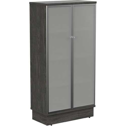 Grand Tall Cupboard With Frosted Glass Doors W805xD420xH1615mm Carbon Walnut