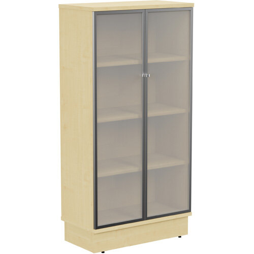 Grand Tall Cupboard With Frosted Glass Doors W805xD420xH1615mm Maple