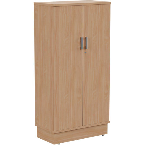 Grand Tall Cupboard With Lockable Doors W805xD420xH1615mm Beech