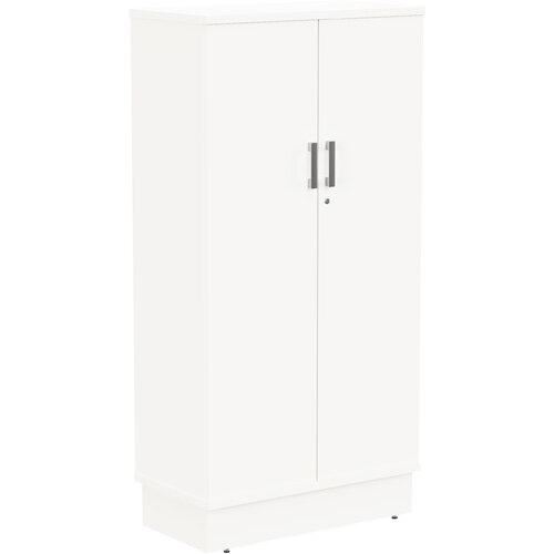 Grand Tall Cupboard With Lockable Doors W805xD420xH1615mm White