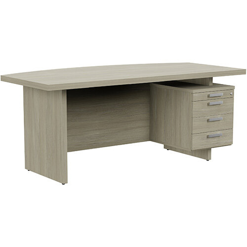 Grand Executive Office Desk With Right Side Drawers 1800mm Arctic Oak