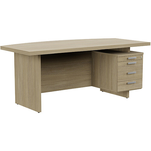 Grand Executive Office Desk With Right Side Drawers 1800mm Urban Oak