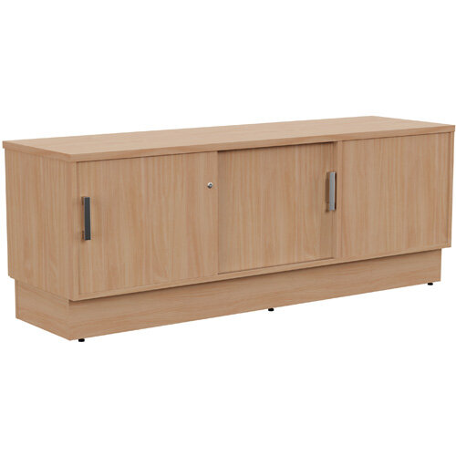 Grand Left Hand Side Large Credenza Unit With Sliding Doors &Back Door W1650xD480xH620mm Beech