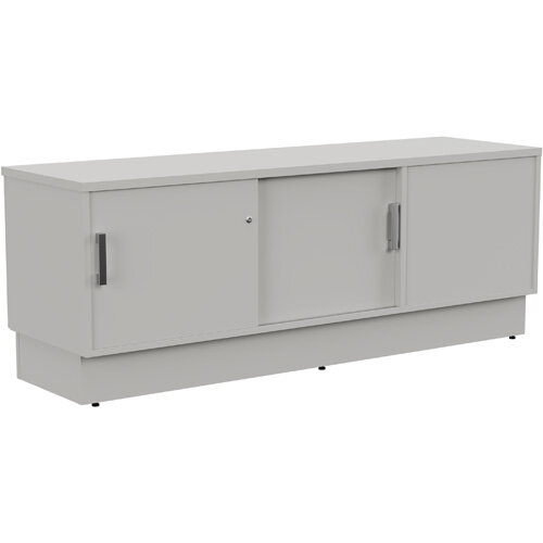 Grand Left Hand Side Large Credenza Unit With Sliding Doors &Back Door W1650xD480xH620mm Grey