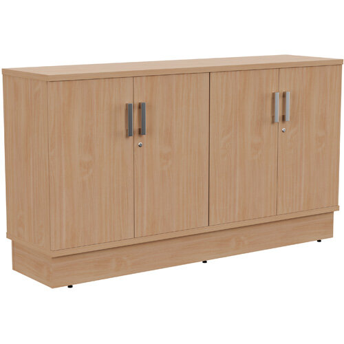 Grand 4 Doors Credenza Cabinet W1605xD420xH895mm Beech