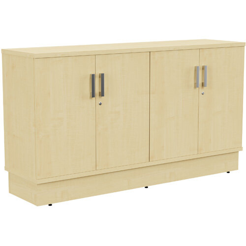 Grand 4 Doors Credenza Cabinet W1605xD420xH895mm Maple