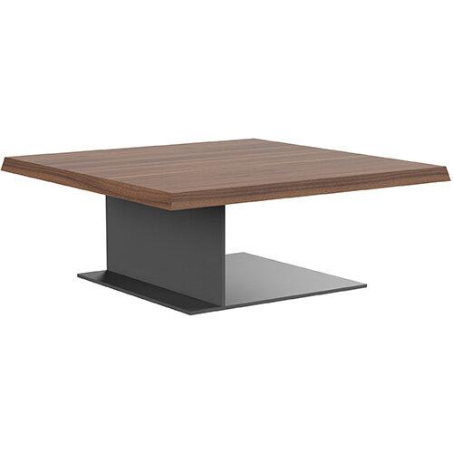 Soreno 920mm Coffee Table American Walnut with Metal Base