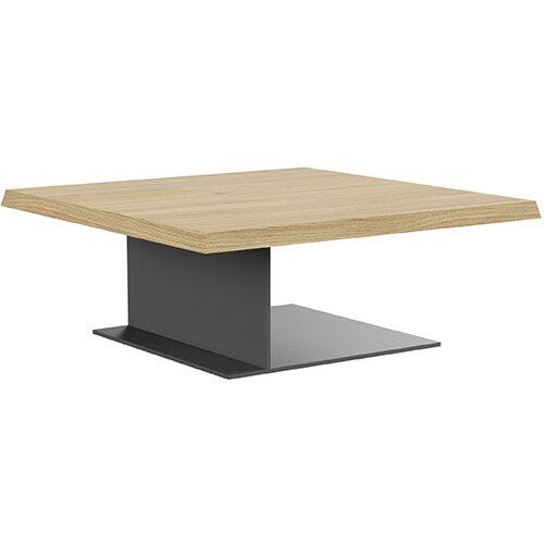 Soreno 920mm Coffee Table Natural Oak with Metal Base